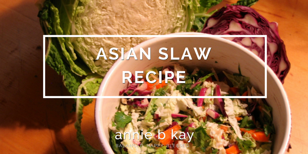 Asian Slaw Recipe by Annie B Kay - anniebkay.com