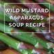 Wild Mustard Asparagus Soup Recipe by Annie B Kay - anniebkay.com