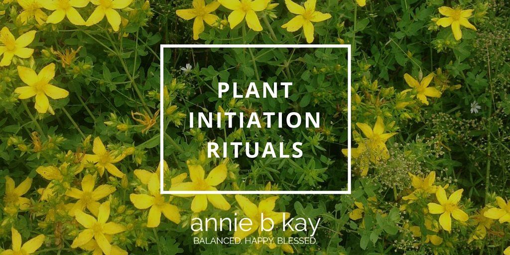 Plant Initiation Rituals by Annie B Kay - anniebkay.com