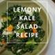 Lemony Kale Salad Recipe by Annie B Kay - anniebkay.com