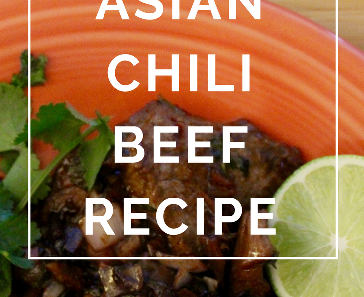 Asian Chili Beef Recipe by Annie B Kay - anniebkay.com
