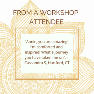 Praise from a workshop attendee